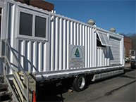 Mobile centrifuge being used by City of Dover, NH