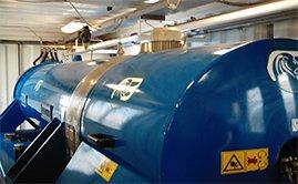 Mobile dewatering centrifuge