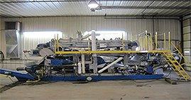 Mobile dewatering belt press
